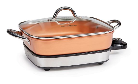 As Seen On TV Copper Chef Electric Skillet Set, 2-pc