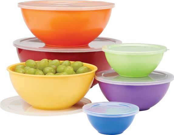Mixing Bowl with Assorted Coloured Bowls Set, 12-pc Product image