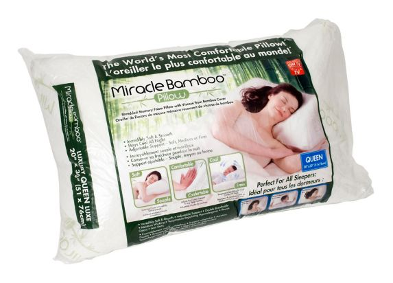 Oreiller hypoallergénique Miracle Bamboo, format grand lit
