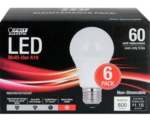 LED A19 Household Bulbs Product image