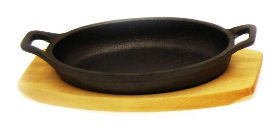 Petit plat de service en fonte Heritage, ovale Image de l'article