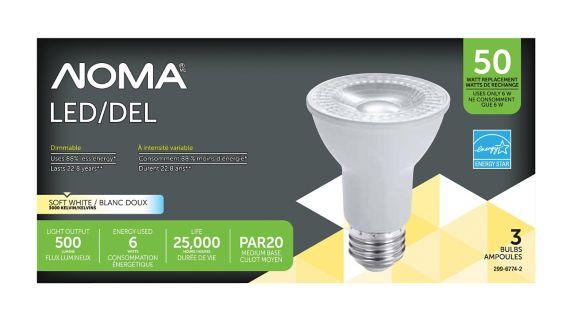 NOMA PAR20 50W LED Light Bulb, 3-pk Product image
