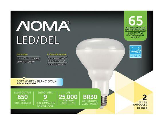 Ampoule à DEL NOMA BR30, 65 W, paq. 2 Image de l'article
