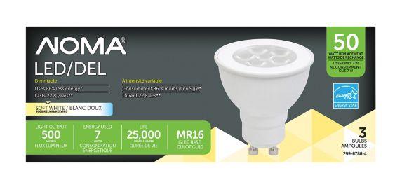 Ampoule à DEL NOMA GU10, 50 W, paq. 3