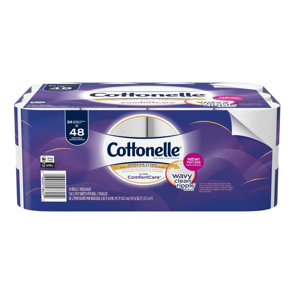 Cottonelle Ultra Double Roll Toilet Paper, 24-Roll