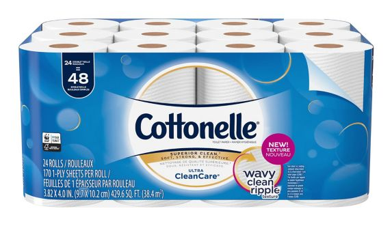 Papier hygiénique Cottonelle Clean Care, 24 rouleaux doubles Image de l'article