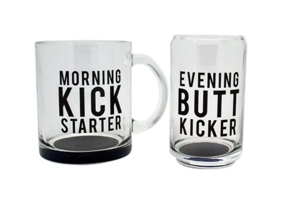 Tasses Morning et Evening Kicking