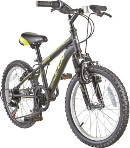 CCM Ruckus Kids' Bike, Black/Yellow, 18-in Product image