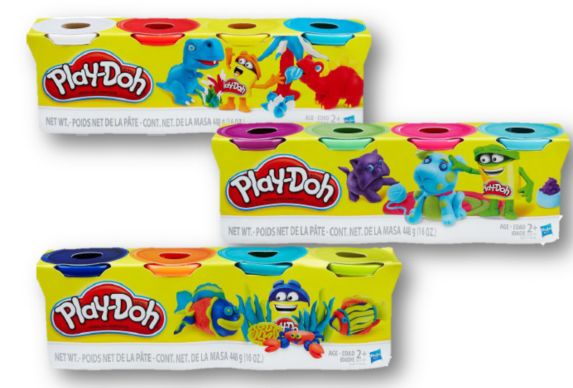 Play-Doh Pack, Assorted Colours, 4-pk Product image