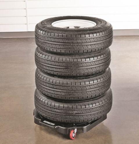 Chariot robuste MotoMaster pour pneus, 300 lb