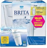 Brita Slim Pitcher Water Filtration System, 3-pk | Britanull