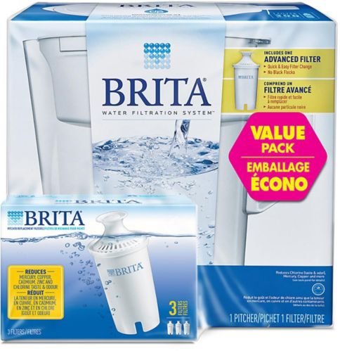 Brita Slim Pitcher Water Filtration System, 3-pk Product image