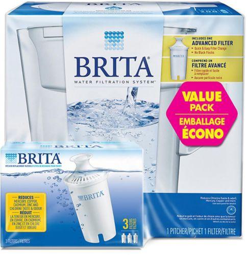 Pichet mince avec système de filtration Brita, paq. 3 Image de l'article