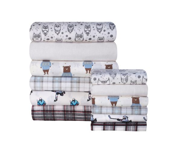Martex Twin Flannel Assorted Sheet Set  Product image