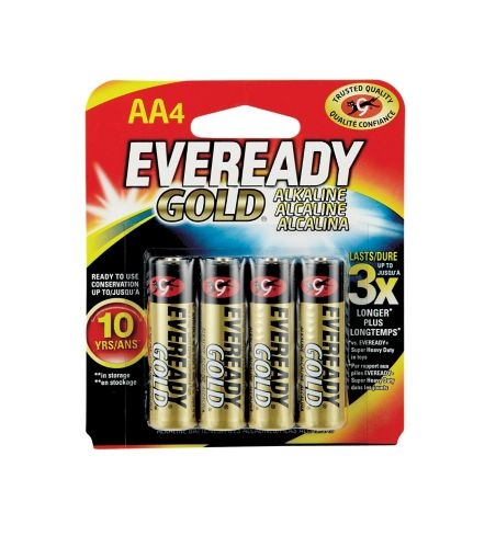 Piles Energizer Eveready AA, paq. 4