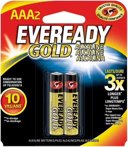Piles alcalines AAA Eveready Gold, paq. 2