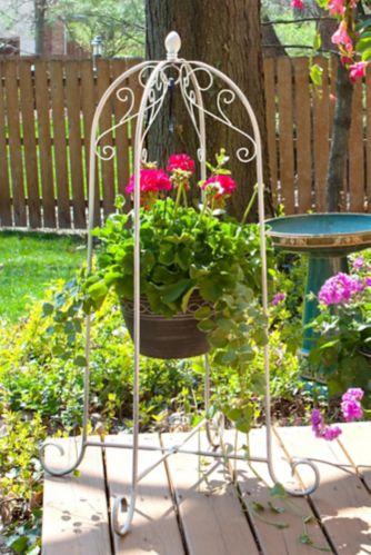 Support pour jardinière suspendue Panacea, blanc, 40 po Image de l'article