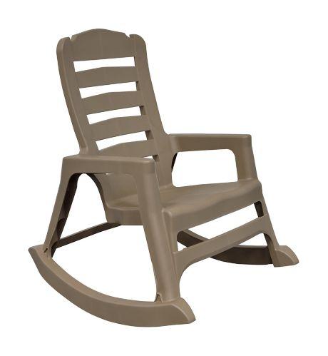 Chaise berçante en résine Adam