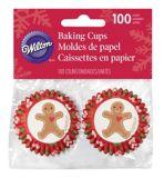 Wilton Mini Baking Cups, Gingerbread Man, 100-pk | Wiltonnull