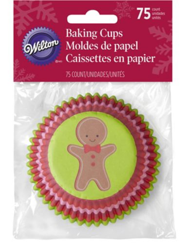 Wilton Baking Cups, Gingerbread Man, 75-pk Product image