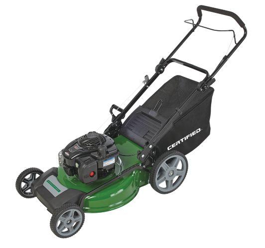 Certified 140CC 3-in-1 Push Lawn Mower, 21-in
