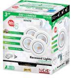 NadairRecessed White LED Lights, 3-in, 4-pk | Nadairnull