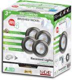 Luminaires encastrés à DEL, nickel brossé, 3 po, paq. 4 | Nadairnull