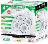 Luminaires encastrés à DEL, blanc, 4 po, paq. 4 | Nadairnull