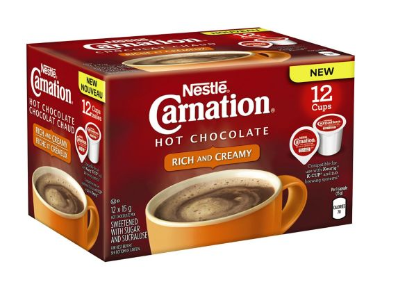 Nestle Carnation Rich & Creamy Hot Chocolate K-Cup Pods, 12-pk Product image