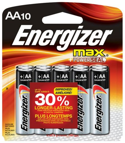 Energizer Max Alkaline AA Batteries, 10-pk Product image