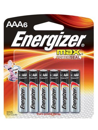 Piles alcalines Energizer Max AAA, paq. 6 Image de l'article