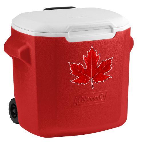 Glacière à roulettes Coleman de la fête du Canada, 28 pintes Image de l'article