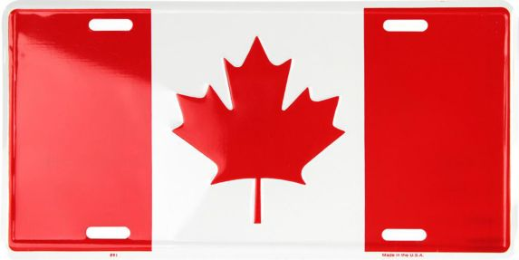 Canadian Flag License Plate Product image