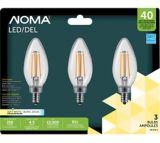 NOMA B11 40W Chandelier LED Bulb, Soft White, 3-pk | NOMAnull