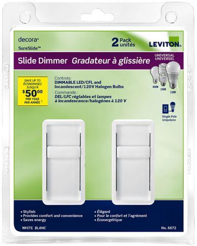 Gradateur universel à glissière Leviton, paquet de 2 Image de l'article