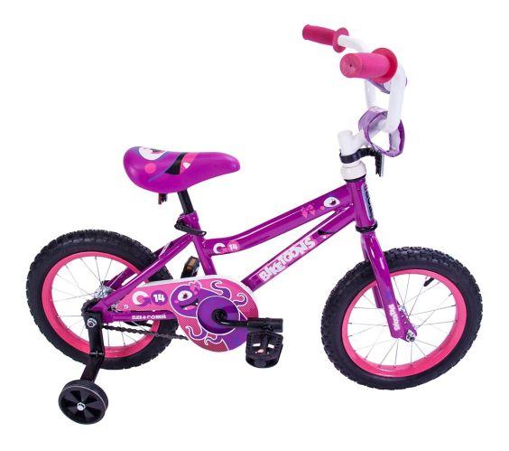Biketunes Kids' Bike, Pink, 14-in Product image