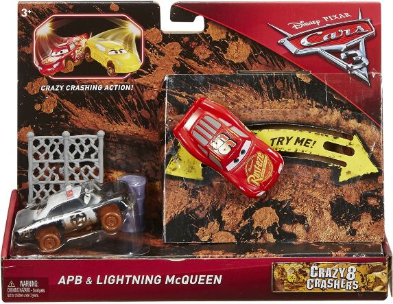 Cars 3 1:55 ScaleCrazy 8 Racer, 2-pk, Assorted Product image