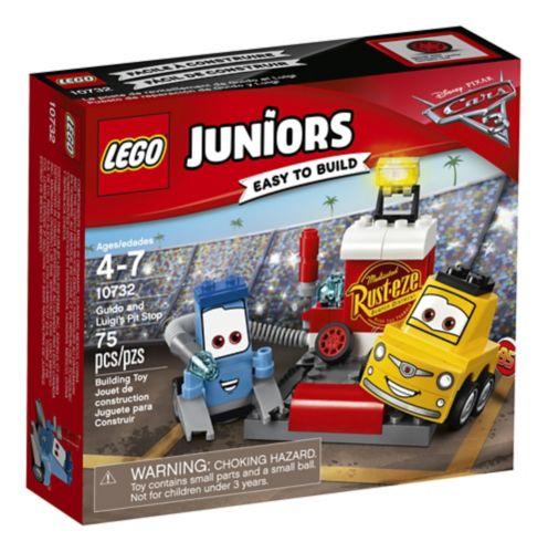 LEGO Juniors Les bagnoles 3, le poste de ravitaillement de Guido et Luigi, 75 pièces Image de l'article