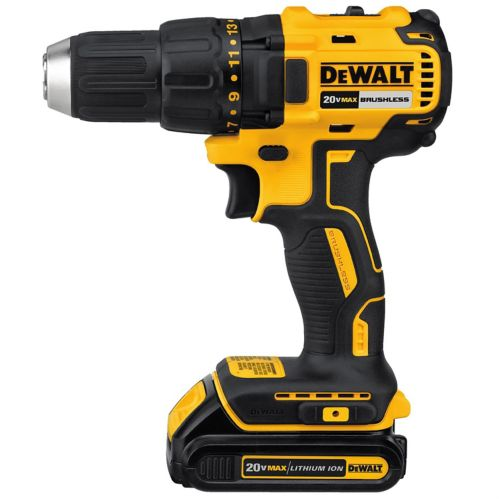 DEWALT 20V Max Li-Ion Brushless Compact Cordless Drill/Driver, 1/2-in