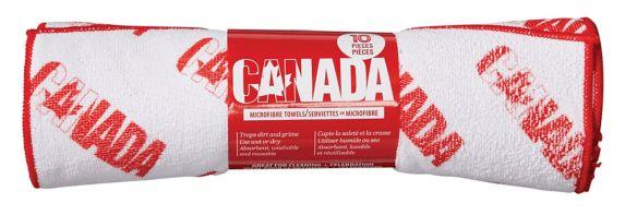 Simoniz Canada Day Microfibre Cloth, 10-pk