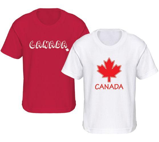 T-shirt de la fête du Canada, jeunes, choix varié