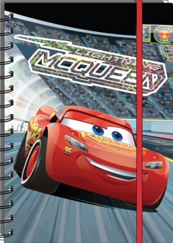 Disney Cars 3 Spiral Notebook with Elastic, 6 x 8-in