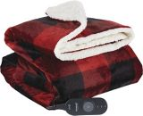Sunbeam Micro-Mink/Sherpa Heated Throw Blanket | Sunbeamnull