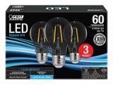 Ampoules à DEL A19 Feit Electric Filament, 60 W, lumière du jour, paq. 3 | Feit Electricnull