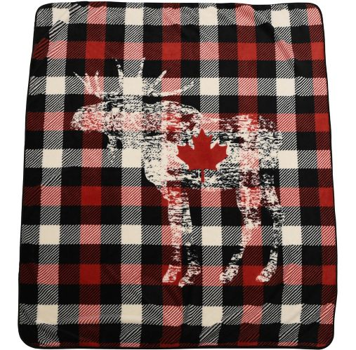 Plush Moose Throw, 1-Ply, 50x60-in Product image