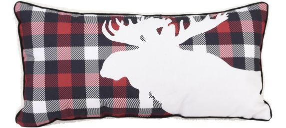 Moose Breakfast Cushion, 20x10-in Product image