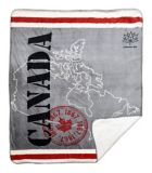 Plush Canada Throw, 2-Ply, 50x60-in