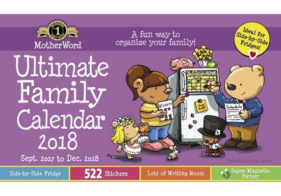 Motherword Magnetic Calendar English
