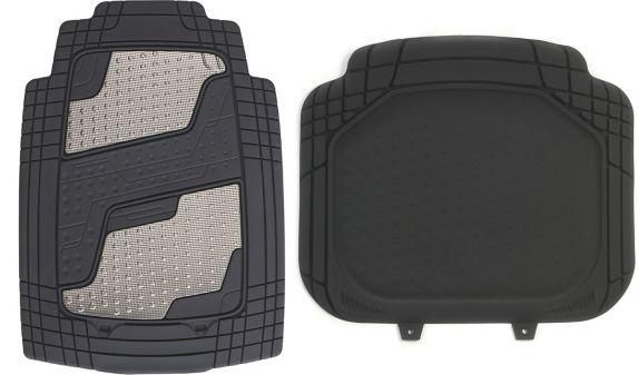Kraco Chrome Floor Mat Set, 2-pc
