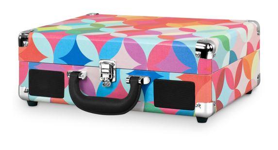 Tourne-disque valise Innovative Technology, motif géométrique Image de l'article